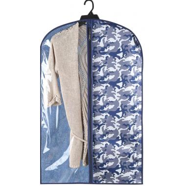 Чехол для одежды подвесной с окном в камуфляже
