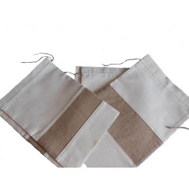 Тканевый мешочек из льна и бязи
